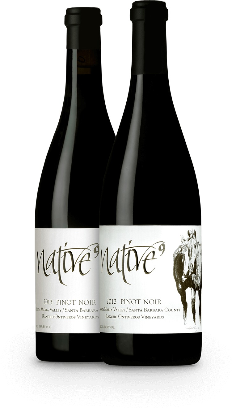 Two bottles of Native 9 wine